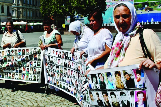 On the 11th of each month the Women of Srebrenica gather in the main square of Tuzla to stand in silent protest of their missing and dead men_Cl.jpg